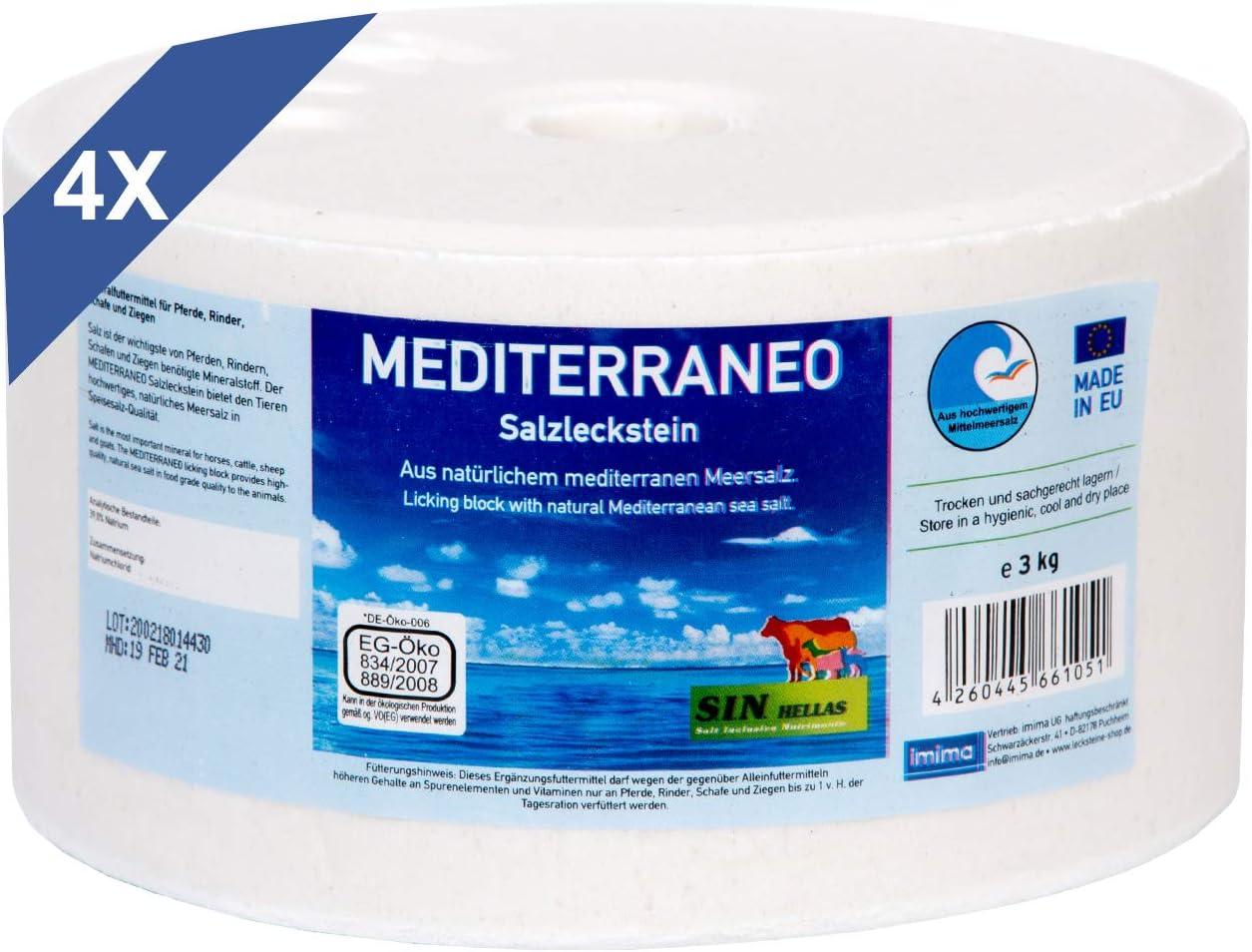 Imima Mediterraneo - Juego de 4 piedras de sal (3 kg)