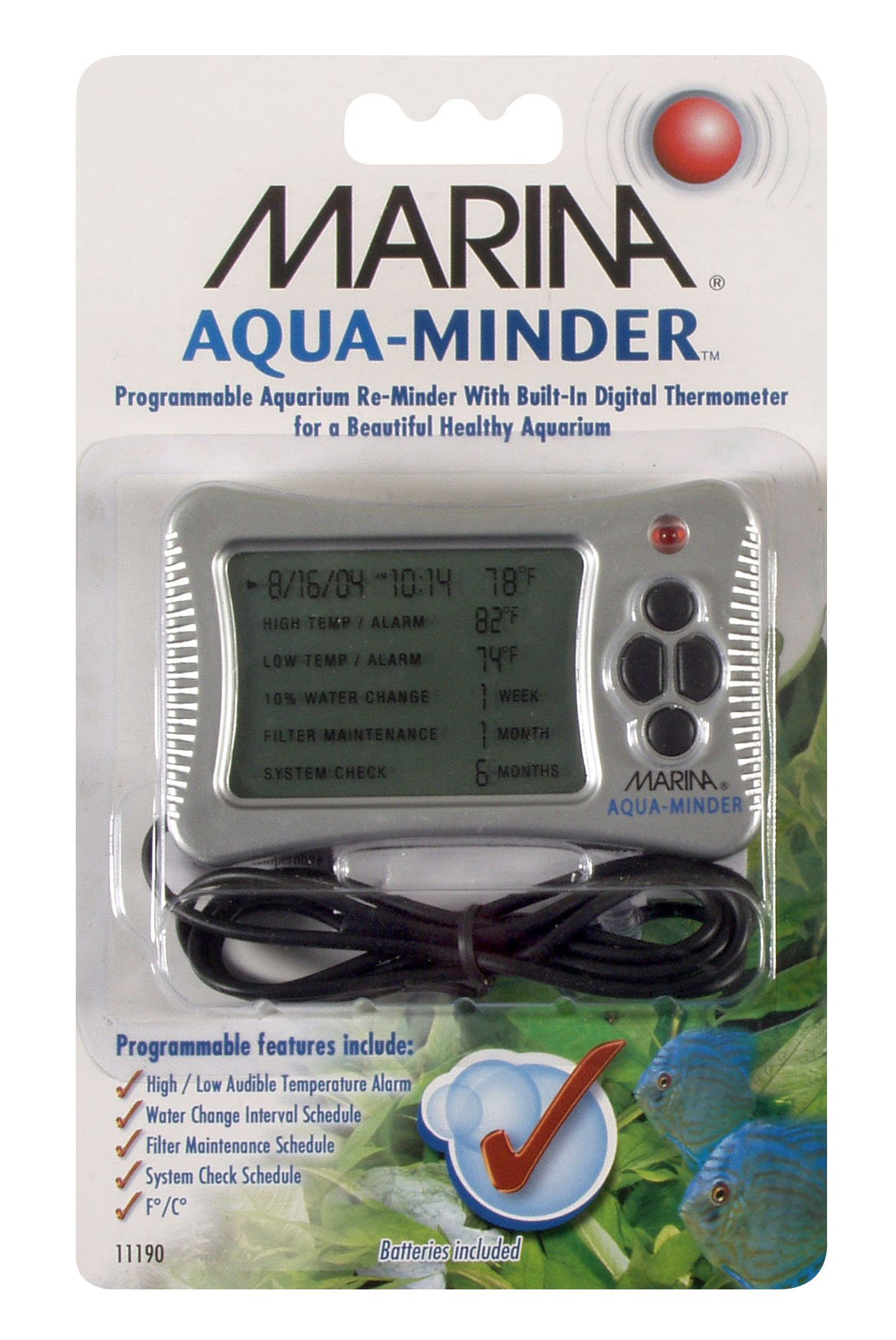 Marina Aqua-Minder Programmable Digital Thermometer