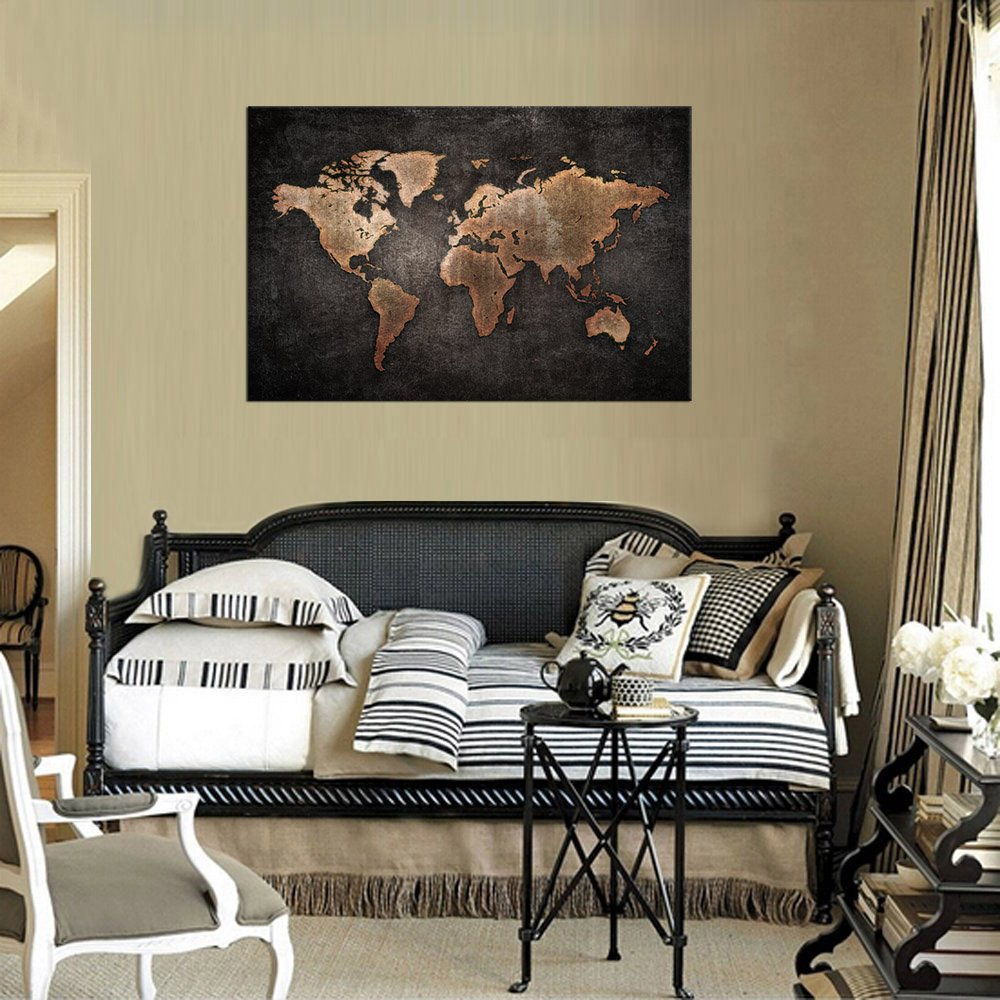 Amazon yearainn canvas wall art vintage world map canvas amazon yearainn canvas wall art vintage world map canvas prints 24 x 36 framed old map abstract canvas painting antique map of the world pictures gumiabroncs Choice Image