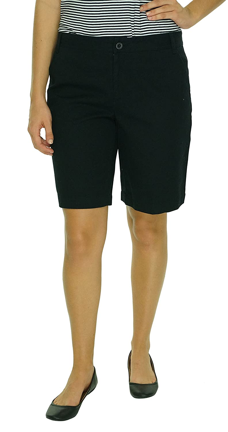 American Living Women's Chino Bermuda Shorts Black 2