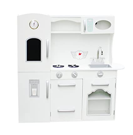 High Quality Vintage Large White Wooden Kitchen Toy Pretend Kids Children Role Play Set  By Oye Hoye