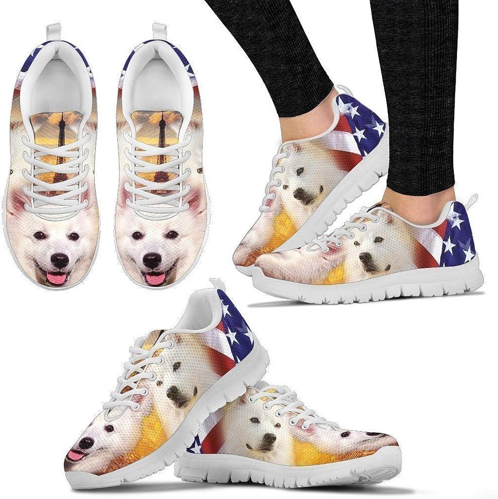 Pet Animal Designs American Eskimo Print Running Shoes for Women