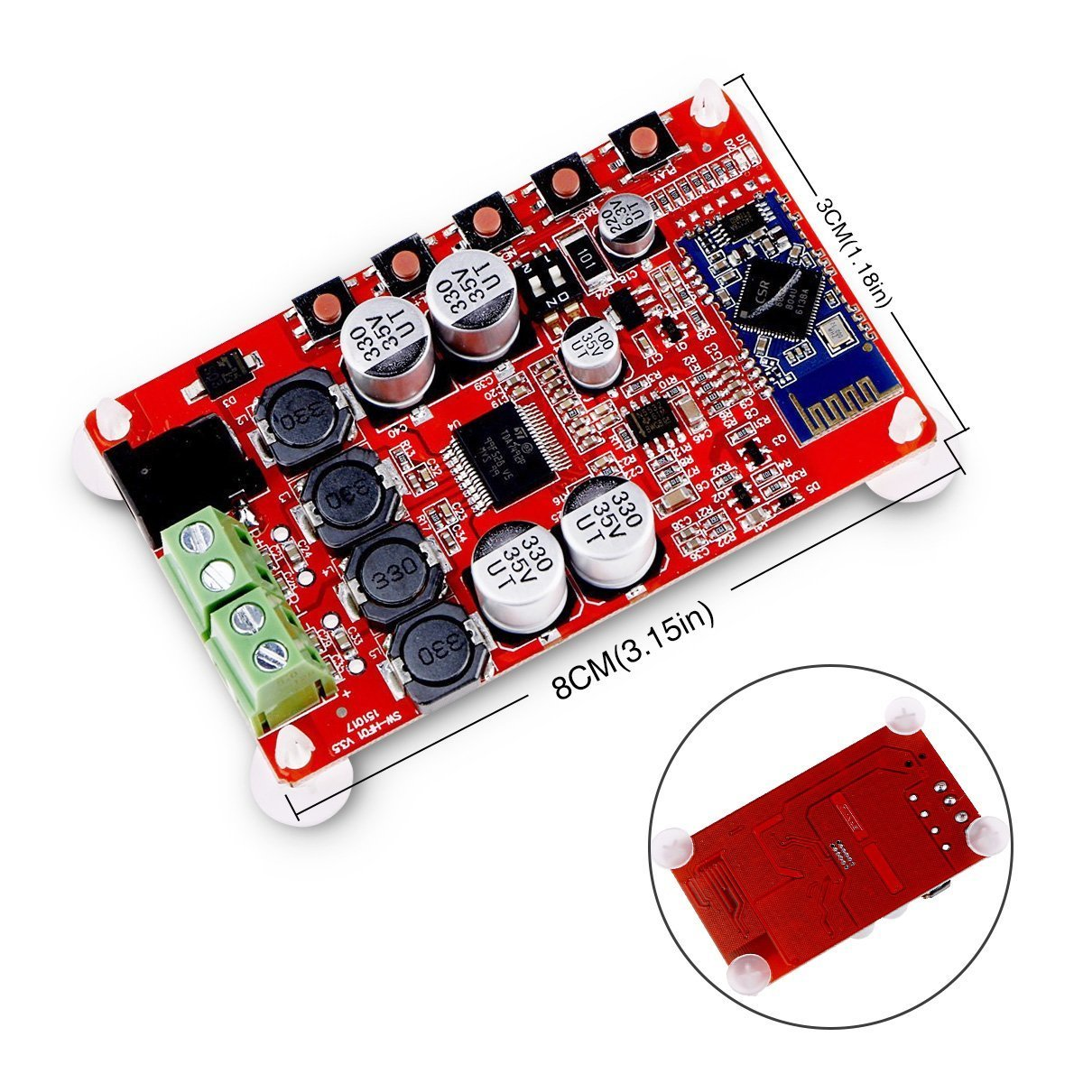 Insma Amplifier Board Tda7492p Audio Receiver Amplifiers Stereo Amp 2 Channel Subwoofer Circuit Diy Module 25w Dual Electronics