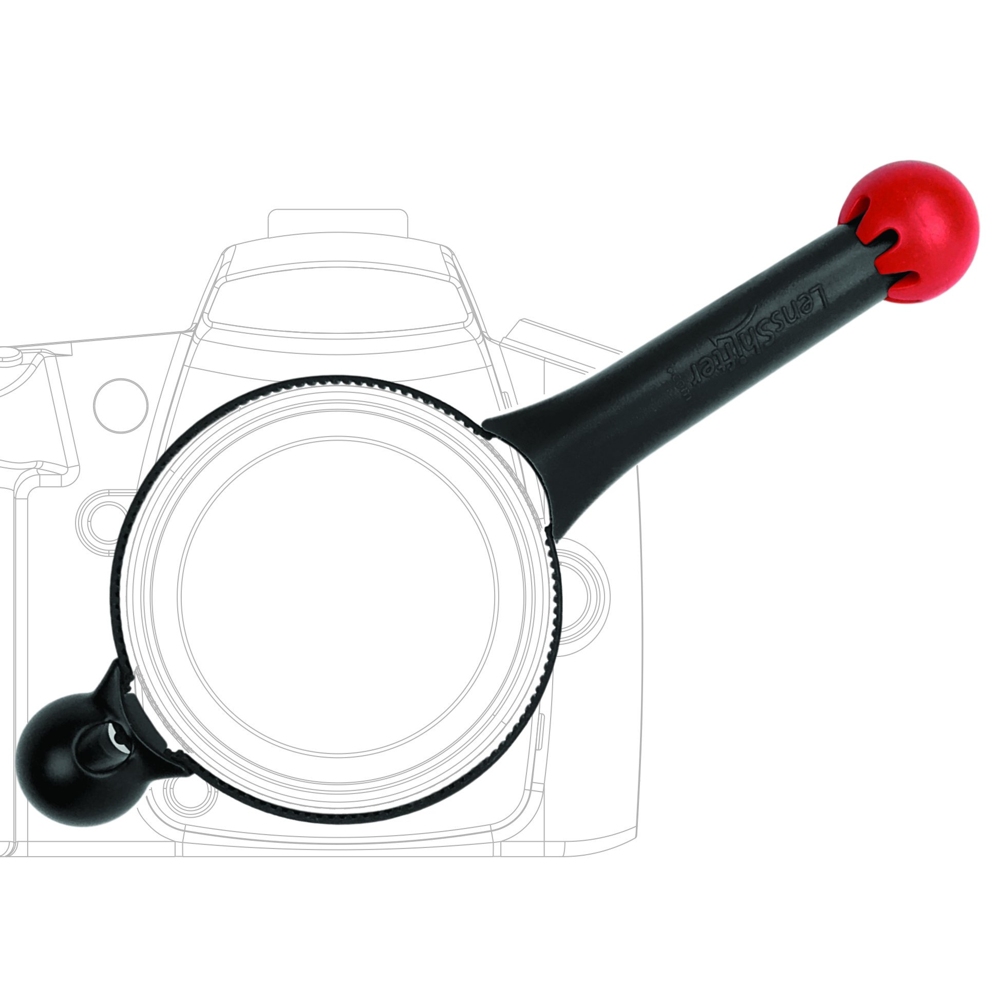 LensShifter Pro Red - Balanced Focus and Zoom Grip for DSLR and Mirrorless Camera Lens - (Red) by Lensshifter