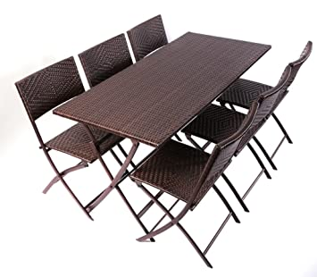 Amazon Com Rst Outdoor Perfect Folding Table Chair Set Patio
