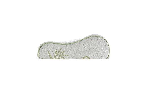 Alveo bambú espuma viscoelástica cervical almohada ergonómica con una cubierta extraíble de cremallera: Amazon.es: Hogar