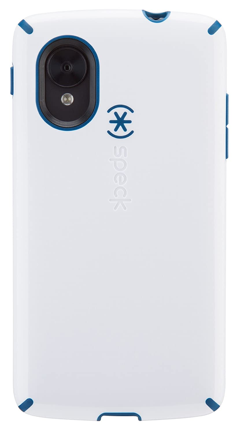 Speck Products CandyShell Case for LG Nexus 5- White/Deep Sea Blue