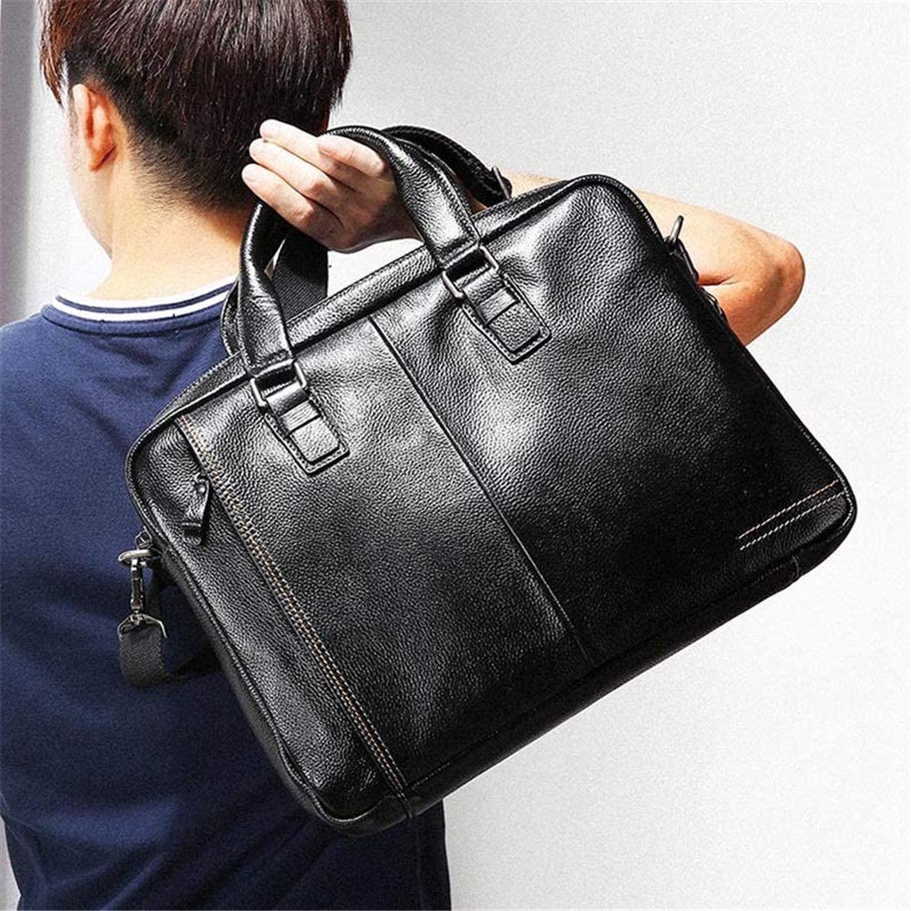 HANXIAODONG Mens Laptop Messenger Bag Shoulder Bag Mens Vintage Tote Shoulder Messenger Bags Large Capacity Bags for Business Casual