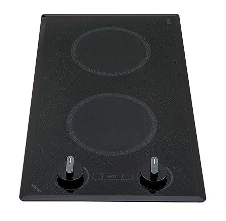 Kenyon B41516 6-1 2-Inch Mediterranean 2-Burner Trimline Cooktop with Analog Control UL, 240-volt, Black