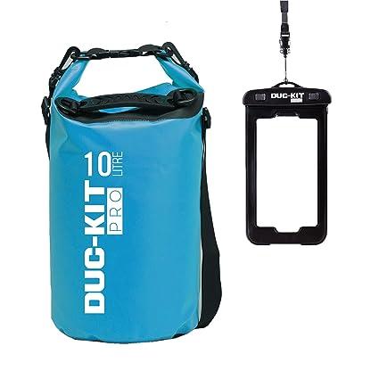 Duc-Kit Pro 10L, 20L, 30L Bolsa seca impermeable + funda para Smart Phone IPX8, para todos los deportes acuáticos