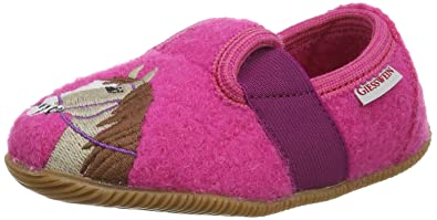 Giesswein Oberstaufen, Mädchen Hohe Hausschuhe, Pink (himbeer/364), 24 EU