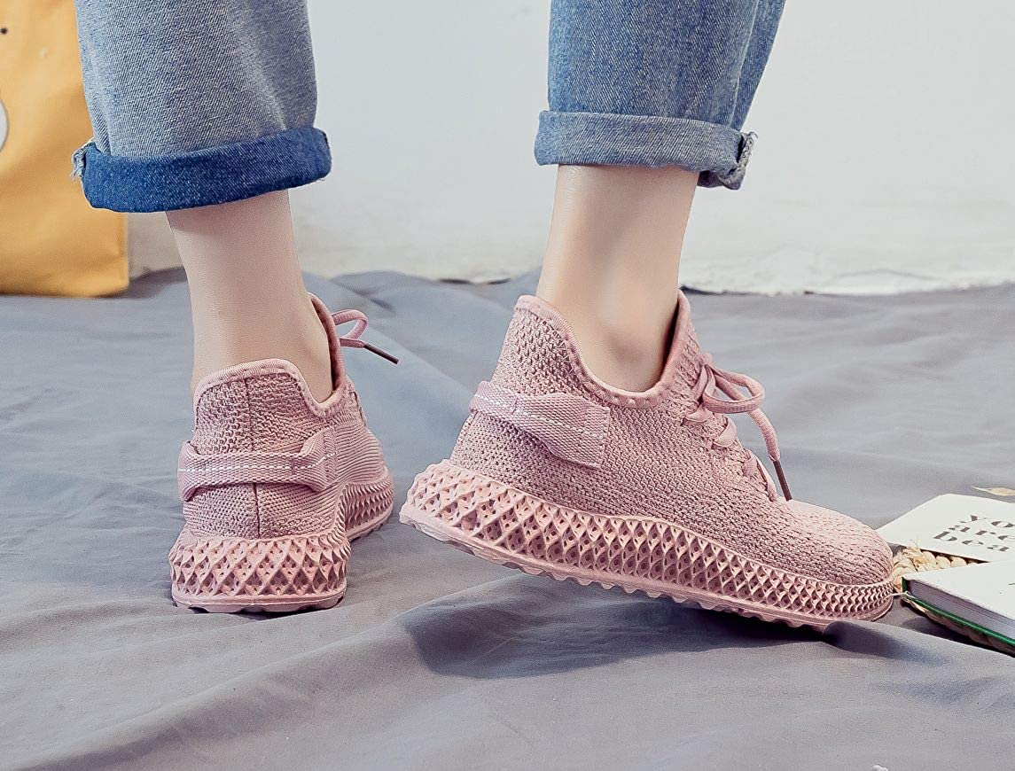 5.5-8.5 MALAXD Womens Fashion Breathable Mesh Sneakers Road Running Jogging Gym Shoes