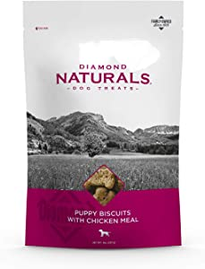 Diamond Naturals Puppy Biscuit Dog Treats That Tastes Great and Are Made from Chicken Protein and Helps Keep Teeth Clean for Growing Puppies 8oz