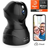 Security Camera 1080P WiFi Dog Pet Camera - KAMTRON Wireless Indoor Pan/Tilt/Zoom Home Camera Baby Monitor IP Camera with Motion Detection Two-Way Audio
