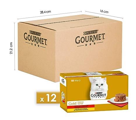Gourmet Gold Empanadas para el Gato con Pollo y Zanahoria, con Manzo Y Tomates,