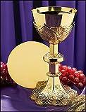Vine Embossed Chalice and Paten Set