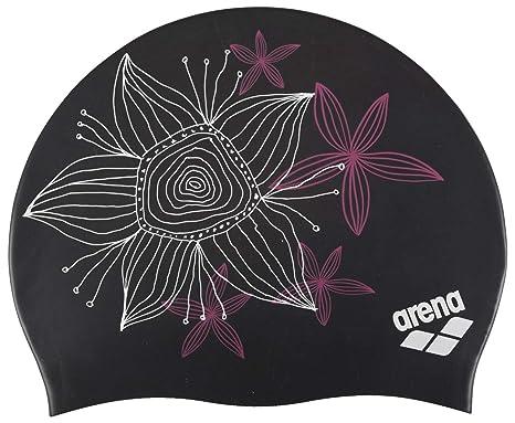 Arena Sirene Bonnet de Bain Femme, Hand Draw Black, FR Fabricant   Taille 7c6f82248bd
