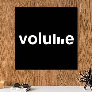 لوحة فوليوم الصوت خشب ام دي اف مقاس 30x30 سنتيمتر