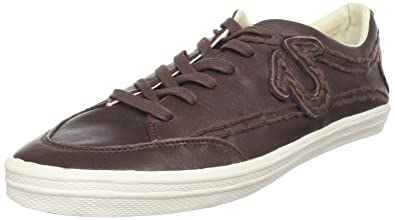 9d1e95419 True Religion STITCH IT Leather TR174103 Mens Trainers Brown Size ...