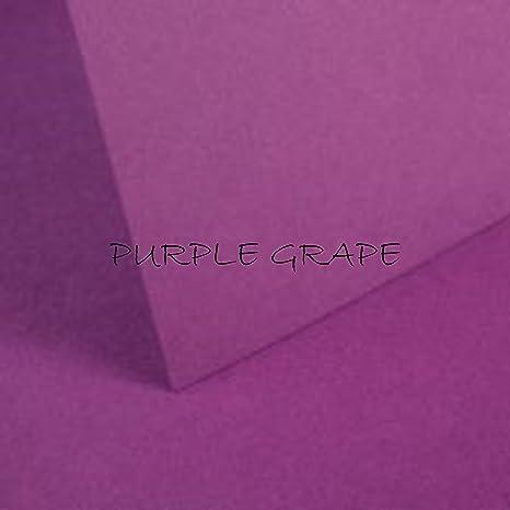 10 hojas A4 de color morado uva de cartulina de 240 g/m² ...