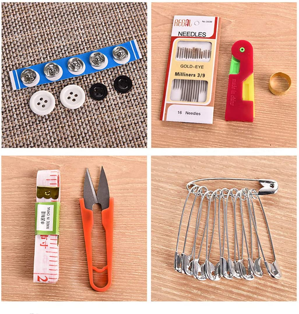Beginners Home Repairs Sewing Supplies for Adults E-Greetshopping Sewing Basket with Sewing kit Emergencies Children Portable Mini Handheld Sewing Accessories Travelers
