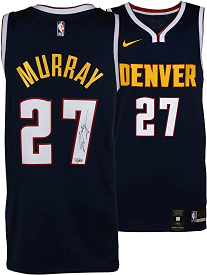 df9d38fda80 Jamal Murray Denver Nuggets Autographed Nike Navy Swingman Jersey ...