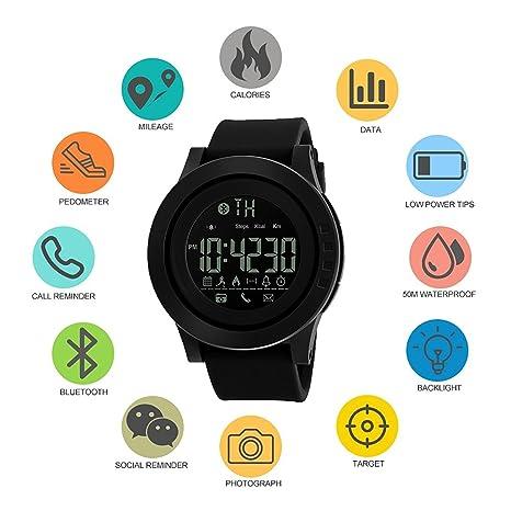 Amazon.com: Mastop Smart Watch Pedometer Calories Bluetooth Clocks Waterproof Digital Outdoor Chronograph Sports Watches (Green): Cell Phones & Accessories