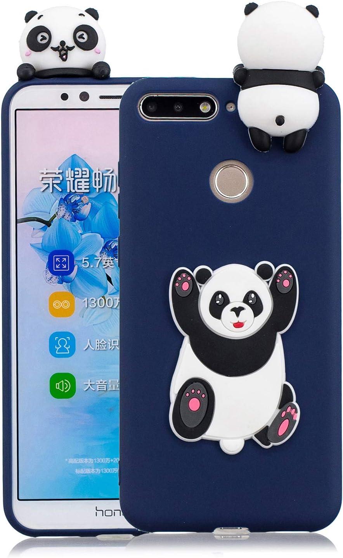 Yobby 3D Animal Dessin Animé Coque Huawei Y6 2018, Coque Huawei Honor 7A Ultra Fine Mignon Kawaii Motif Étui Slim Doux Souple Caoutchouc Silicone ...