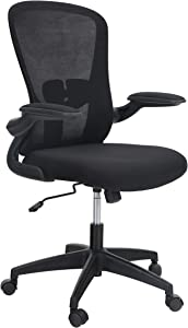 Sophia & William Ergonomic Rocking Mesh Home Office Desk Chair High Back, Modern 360° Swivel Executive Computer Chair with Flip-up Armrests and Adjustable Lumbar Support, Load Capacity: 300 lbs