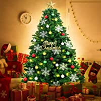 Christmas Tree Kit Xmas Decorations Colorful Plastic Ball Baubles with LED Light 1.8M-with Ornaments