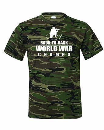b2c1b5dc9 Men's AMERICA Back to Back World War Champs T-Shirt-Camo Green-Small