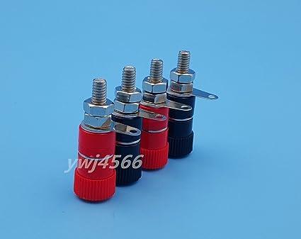 50pcs 4mm Nickel Plated Audio Banana plug banana Connector Plugs For