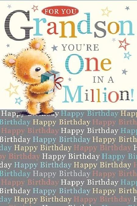 Tarjeta de felicitación de cumpleaños para nieto, tamaño grande ...