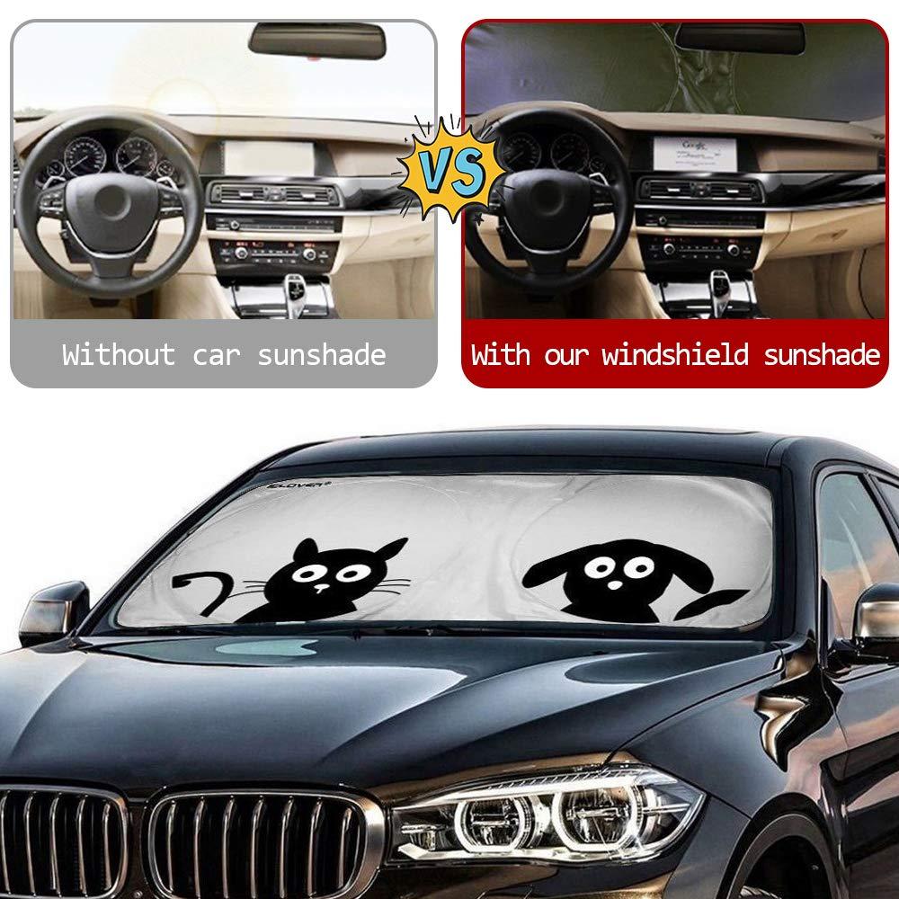 Parabrisas Parasol Auto,2win2buy Parabrisas Parasol Delantera Ultravioleta Plegable Auto Dise/ño Cartoon Encantadora 190/×90cm