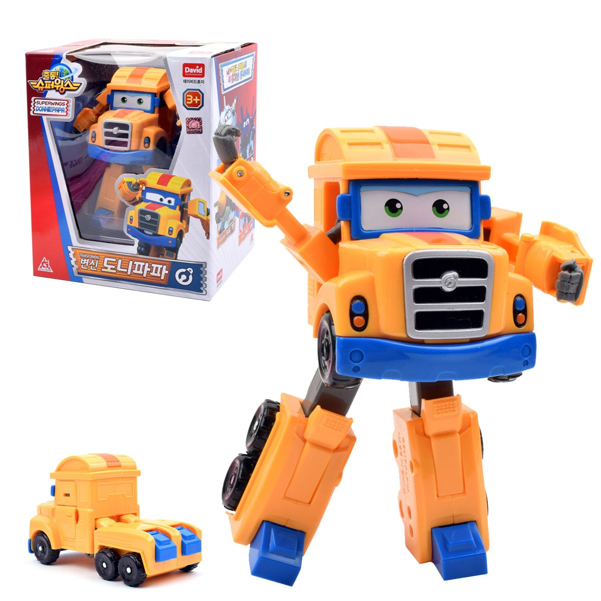"Super Wings – – Transforming Poppa Wheels Toy Figure | Big Rig | Truck | Bot, 5"" Scale"