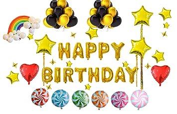 Diseño de cumpleaños de globos (22 unidades)-feliz ...