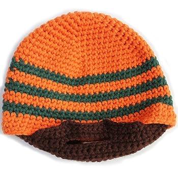 570130731b5 Men Beard Beanie Handmade Winter Hat Outdoor Face Warmer (Orange ...