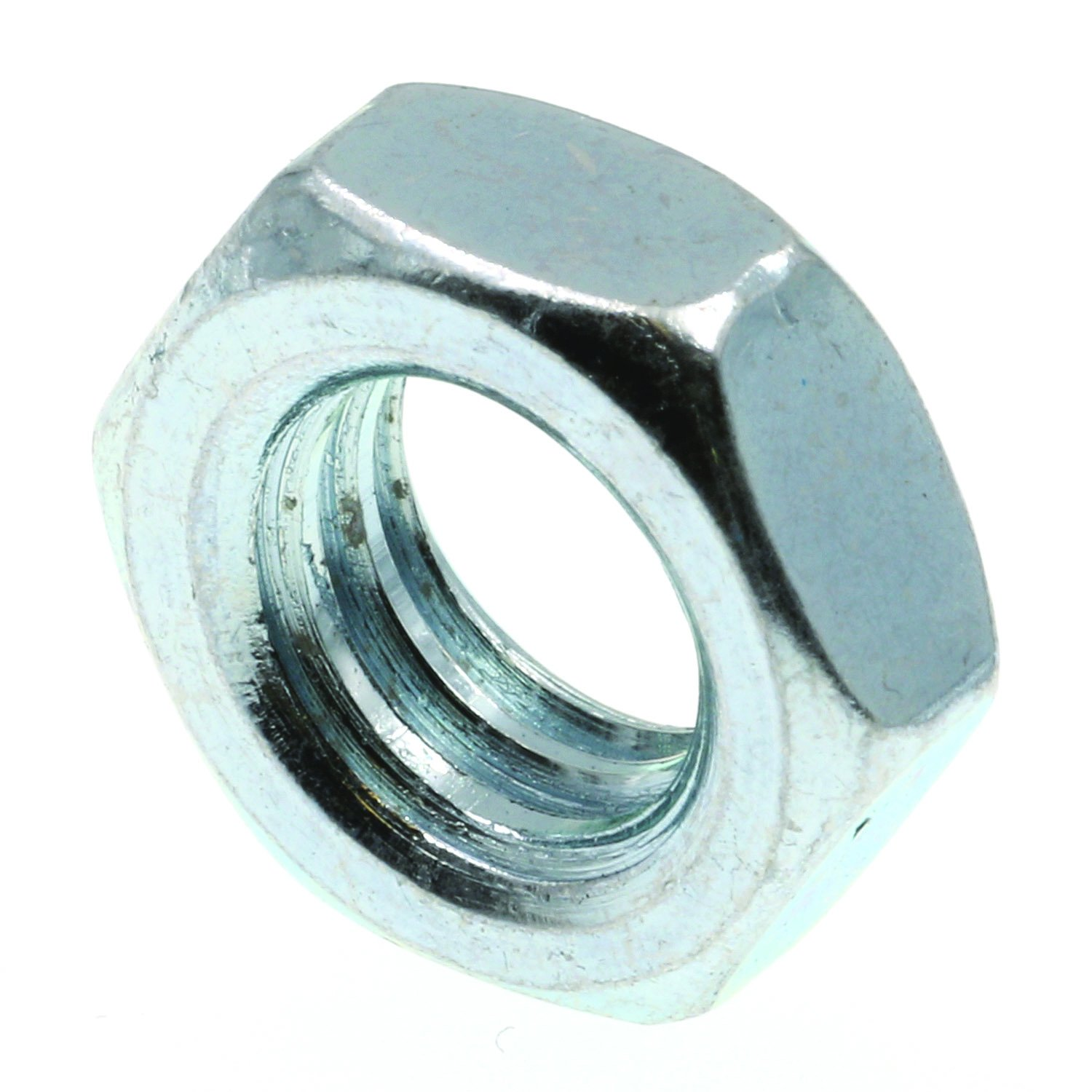 100-Pack Prime-Line 9075885 Hex Jam Nuts 3//8 in.-16 A563 Grade A Zinc Plated Steel
