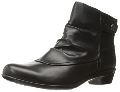 Cobb Hill Rockport Women's Venera Veronica Ankle Bootie, Black Leather, ...