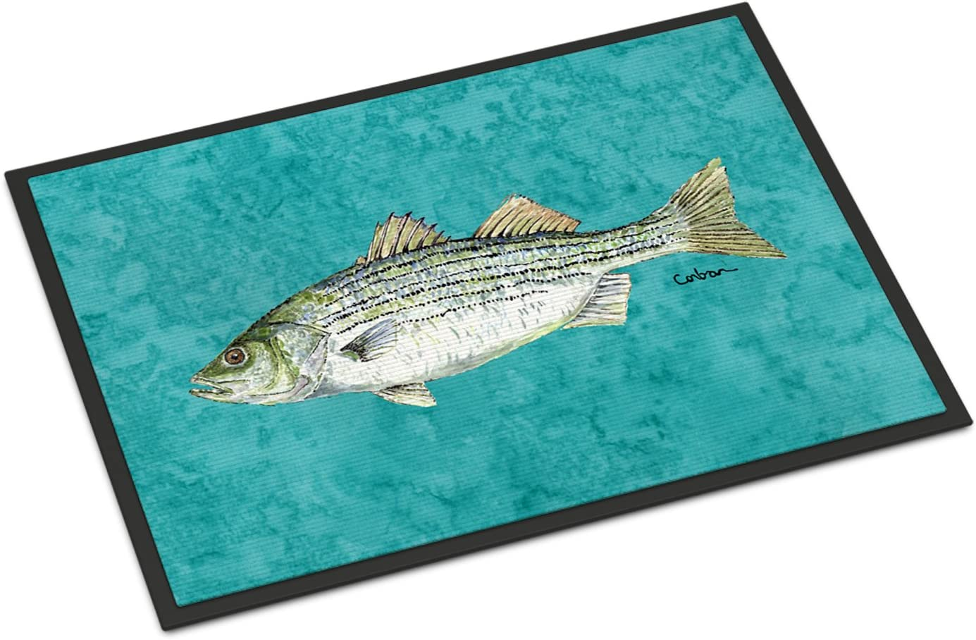 Caroline s Treasures 8720JMAT Fish Striped Bass Indoor or Outdoor Mat 24×36 Doormat, 24H X 36W, Multicolor