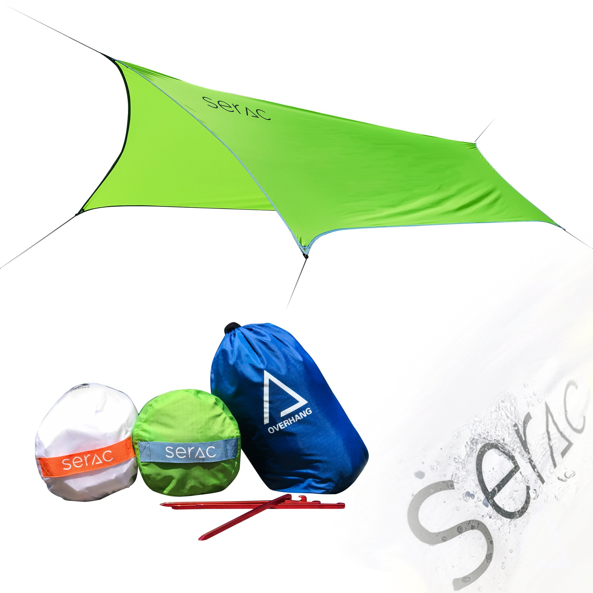 Serac [#1 Hammock and Tent Tarp] Ultralight Hammock Rain Fly and Shelter Perfect for Waterproof Camping, Lightweight Backpacking and Portable for Travel by Serac