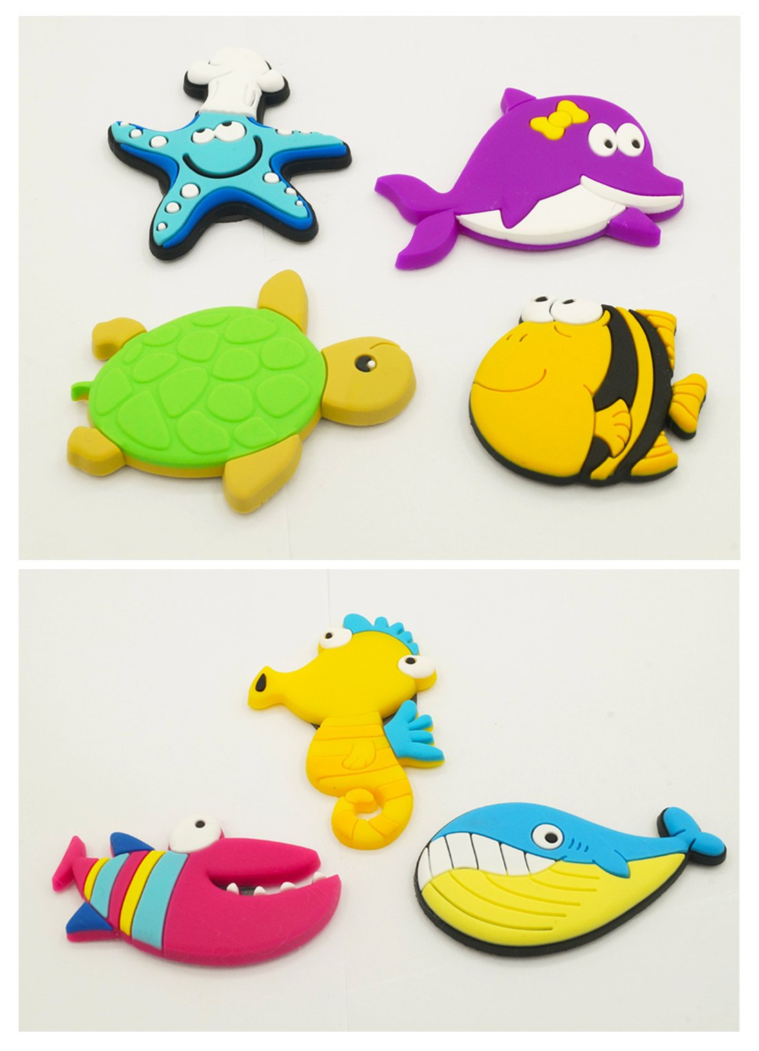 Fridge Magnets for Toddlers Under Sea Ocean Animal Magnets Cartoon Magnetic Fridge Funky Toy for Kids by Happy Cherry (Image #2)