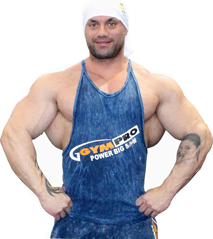 BIG SAM SPORTSWEAR COMPANY Bodybuilding Mens Muscleshirt Tanktop T-Back Tee Tank Stringer 2242