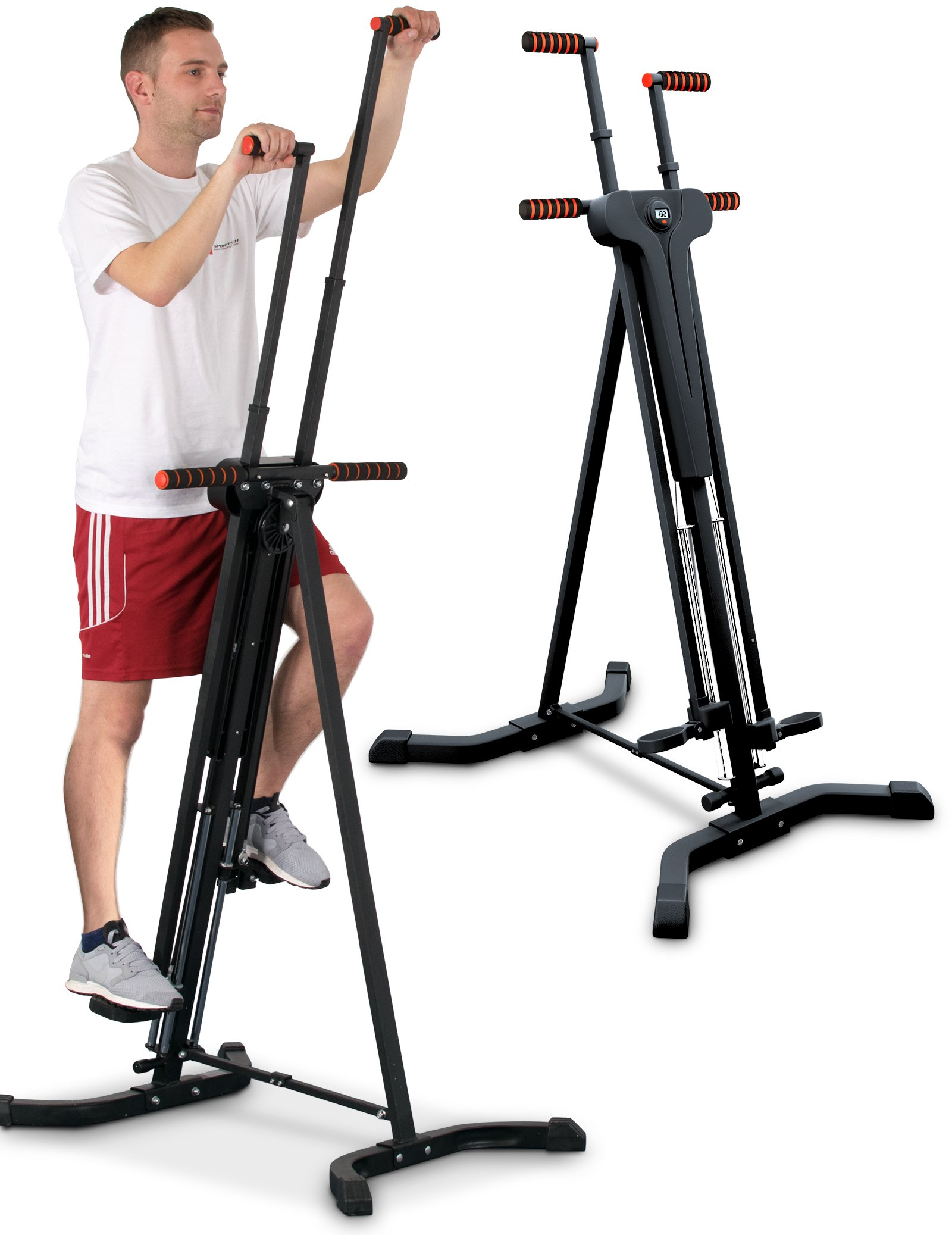 Sportstech Stepper & Machine d'Escalade Verticale 2-en-1 VC300 Grimpeur Vertical Fitness, Simulation d'Escalade, antidérapant et Structure Pliable, idéal pour Les entraînements corporels intensifs product image