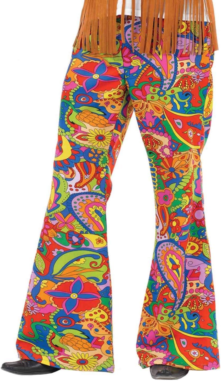 Fun Shack Verde Pantalones Acampanados Hippie Disfraz para Hombres ...