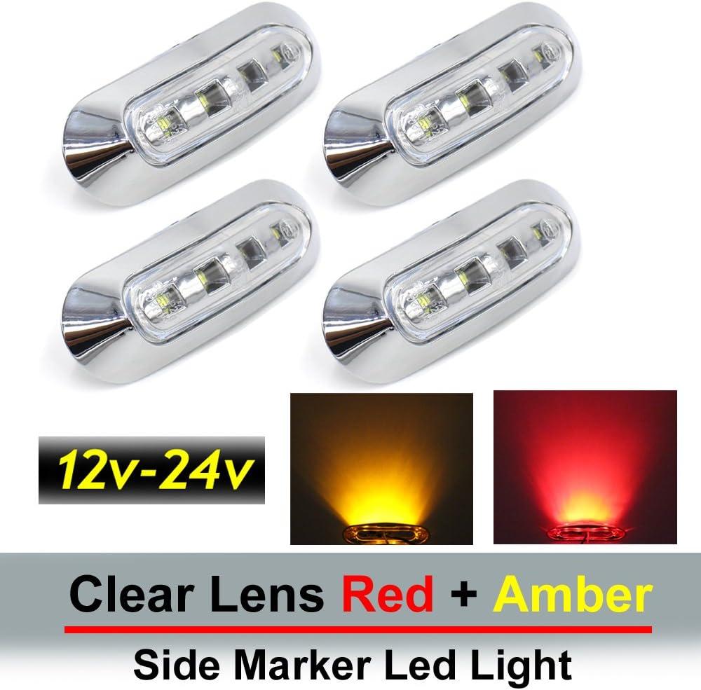 2PCS HHF LED Bulbs Lamps For Car Truck Trailer Plastic Car Side Marker Lamps//Brake Signal Decoration Lamps 2W Yellow Side Marker Lights Lamps 10~30V