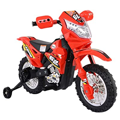 Unbranded Kids Ride On Motorcycle with Training Wheel 6V Battery Powered Electric Toy New: Toys & Games