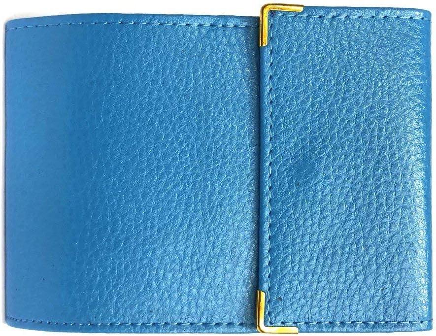 Bleu Ciel LOLUNA/® Porte ch/équier Long Pliant Talon Gauche avec Carte bancaire Compact en Cuir Disponible dans Plusieur Couleur Disponible