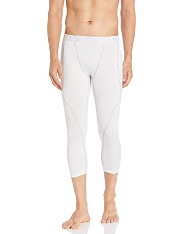948edf918b TSLA Men's Compression 3/4 Capri Pants Baselayer Cool Dry Sports Running  Yoga Tights