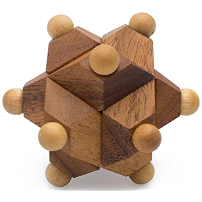Neutrino: Star Puzzle IQ Builder Educational 3D Wood Puzzle & Handmade Traditional Wooden Game for Adults Improve Creative Thinking from with SM Gift Box(Pictured): Toys & Games